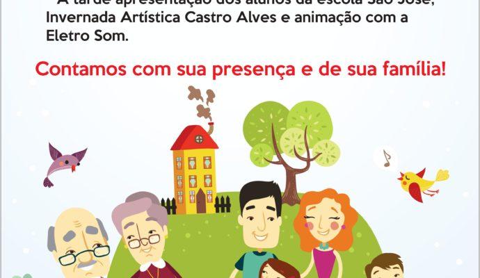 Convite: Inauguração e 1ª Festa da Escola Municipal de Ensino Fundamental São José.