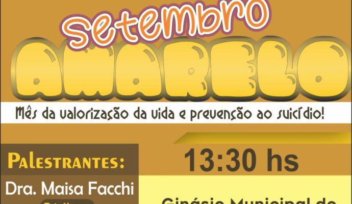 Convite: Palestra Setembro Amarelo – Mês da valorização da vida e prevenção ao suicídio.