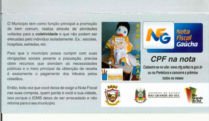 Gincana: Programa Educação Fiscal e Nota Fiscal Gaúcha.