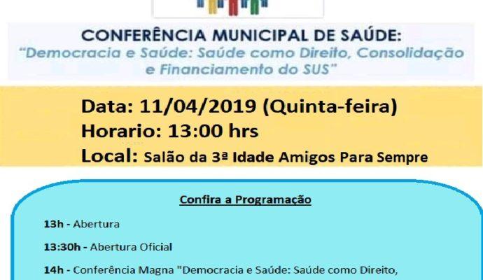 5º Conferência Municipal de Saúde.