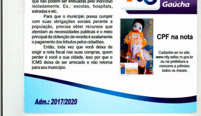 CPF na Nota Fiscal, Nota Fiscal Gaúcha.
