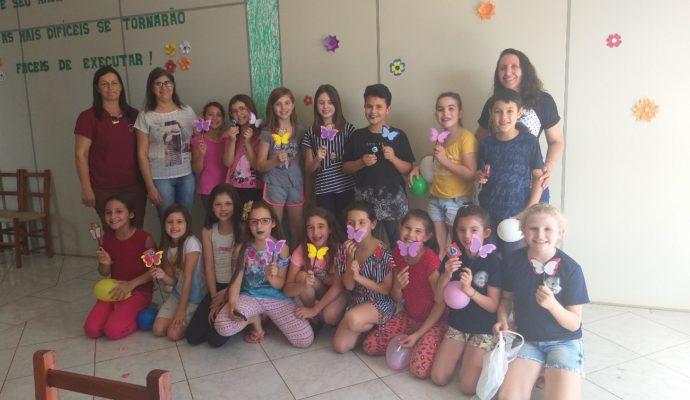 Grupo de Crianças do CRAS São José das Missões/RS.