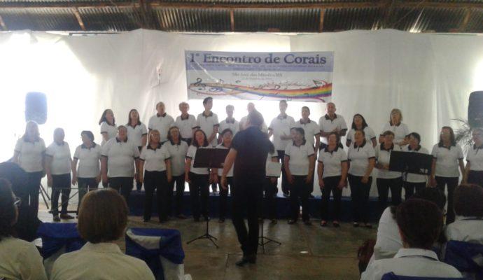Realizado o 1º Encontro de Corais no Município de São José das Missões/RS.