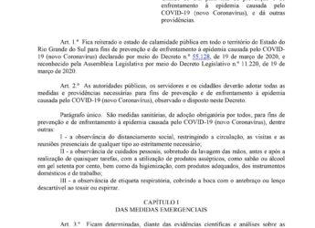 Aviso: Decreto Estadual nº 55.154/2020.