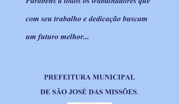 1º DE MAIO: DIA DO TRABALHADOR.