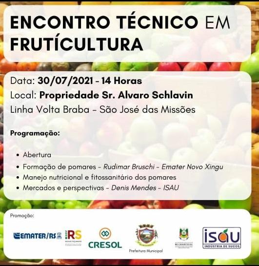 Encontro Técnico em Fruticultura.