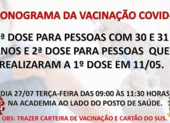 Cronograma Vacinação Covid-19