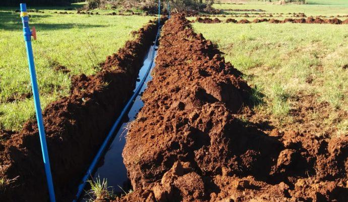 Município incentiva produtores rurais na instalação de irrigação para as suas propriedades.