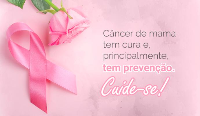 Outubro Rosa: Mês de Prevenção ao Câncer de Mama.